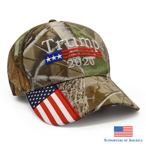 New Donald Trump 2020 Cap Camouflage Usa Flag Baseball Caps Keep America Great Snapback Hat