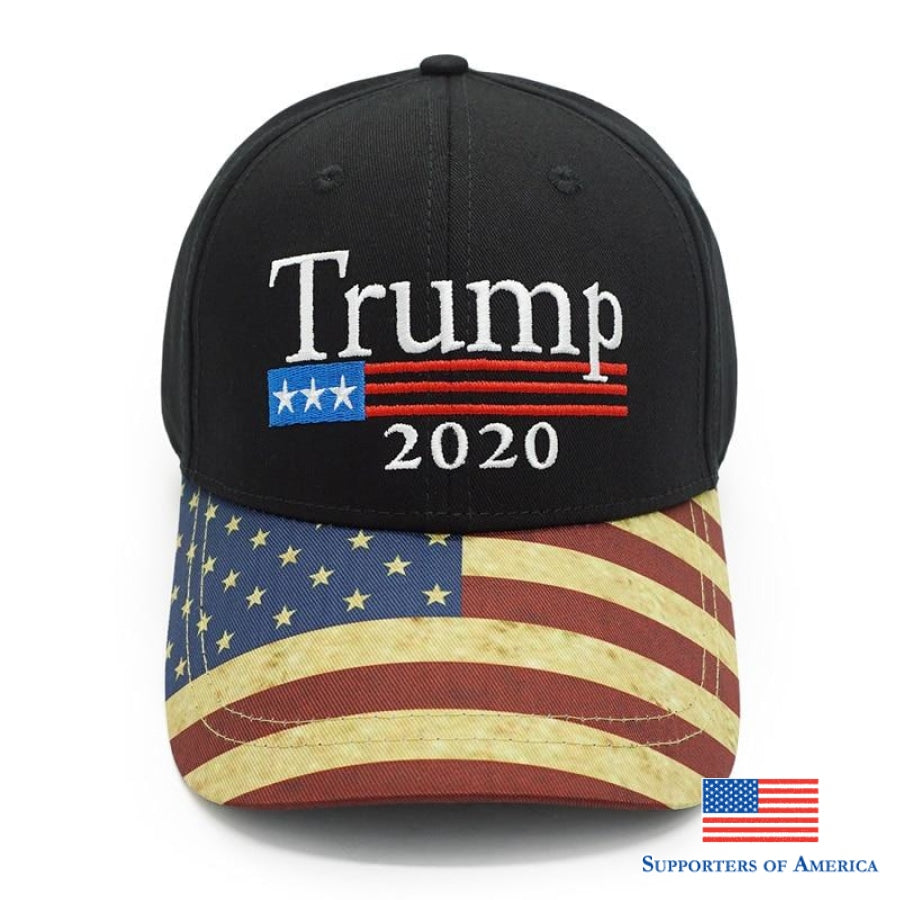 New Vintage Trump 2020 Hat Usa Flag Baseball Cap Men Women Snapback Hats Embroidery Bone Unisex