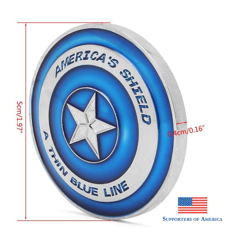 Thin Blue Line Lives Matter Police Americas Shield Commemorative Challenge Coin Side