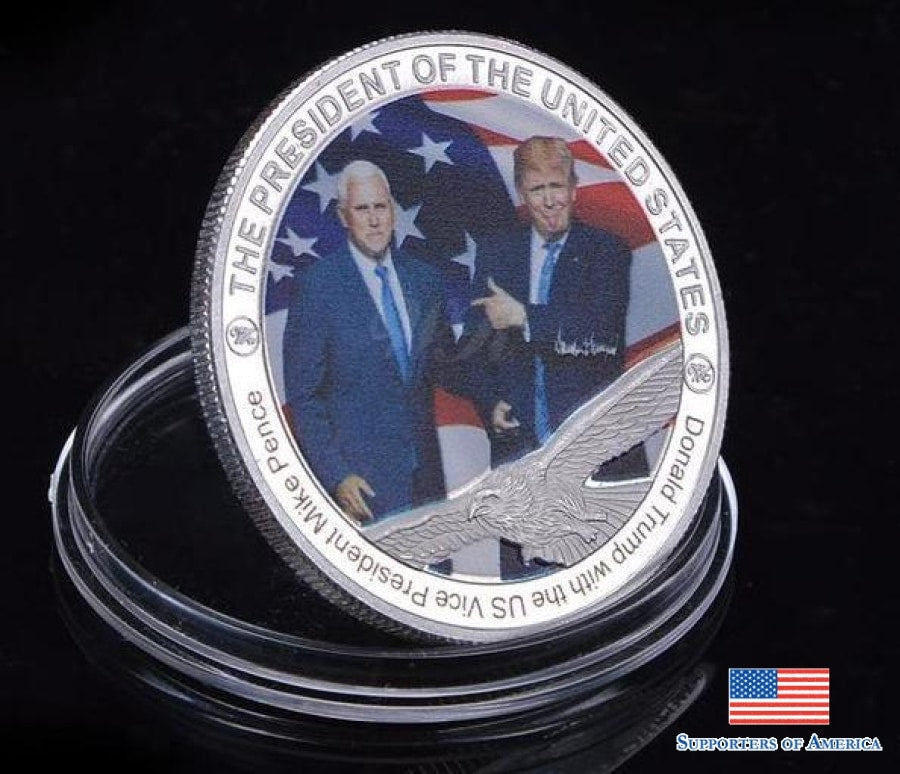 Donald Trump Mike Pence Coin
