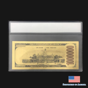 Gold Trump Dollar Bill Back