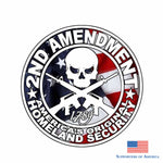 Yjzt 11.7Cm*11.7Cm Accessories Pvc American Flag Decal 2Nd Amendment Gun Car Stickers 6-0083