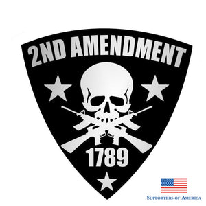 Yjzt 13Cm*13Cm Funny 1789 Gun Stickers 2Nd Amendment Shield Decal Pvc 12-0432