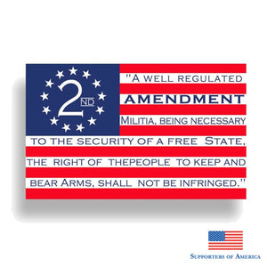 Yjzt 16.5Cm*10Cm Usa American 2Nd Amendment Funny Pvc Decal Car Sticker 12-0611