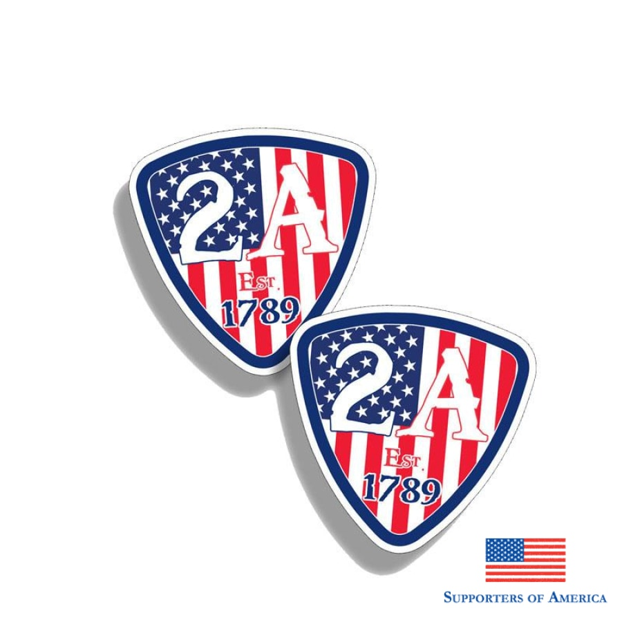Yjzt 2X 10.2Cm*10.2Cm Personality 2Nd Amendment Usa Flag Car Stickers Decal Pvc 12-0636