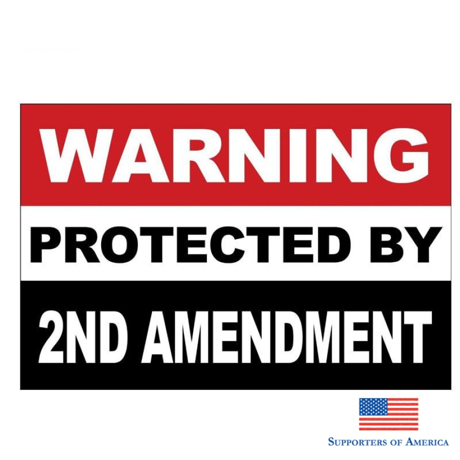 Yjzt 2X 17Cm*11.2Cm Car Sticker Creative Protected By 2Nd Amendment Pvc Decal 12-0410