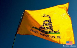 Dont tread on me flag waving