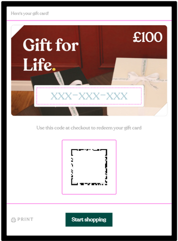 Gift for life card preview