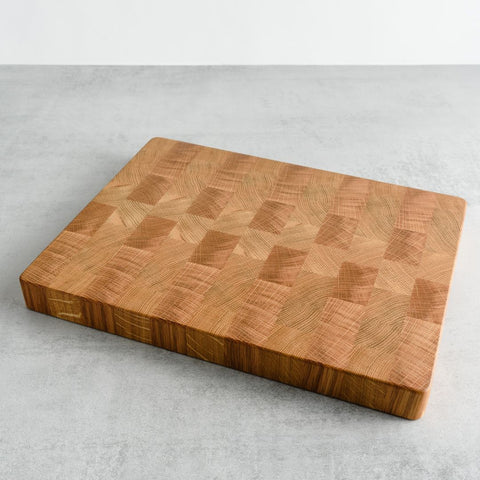 GT Woodshop oak end grain chopping board