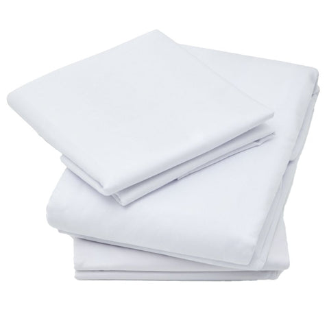 Organic Cotton Sateen Bed Sheets Bundle, White