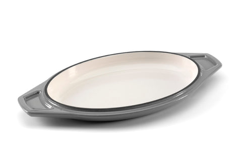 Enamelled Cast Iron Oval Casserole Dish - BuyMeOnce Direct - BuyMeOnce UK