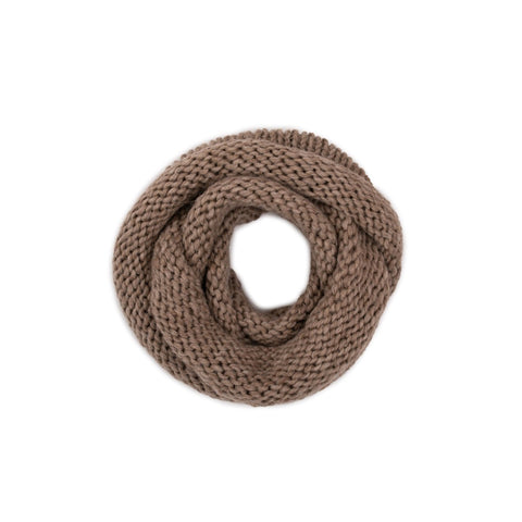 Woollen Loop Scarf, Grey