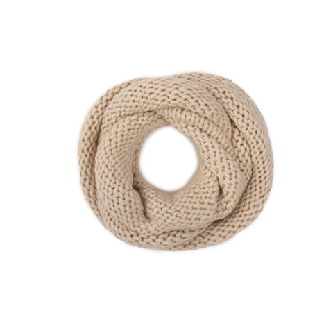 Woollen Loop Scarf, Natural White