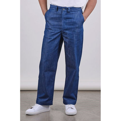 Unisex SW1 Relaxed Trousers, Blue 11oz Italian Denim - BuyMeOnce Direct - BuyMeOnce UK
