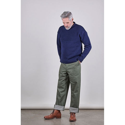 SW1 Relaxed Trousers, Green 11oz Italian Denim