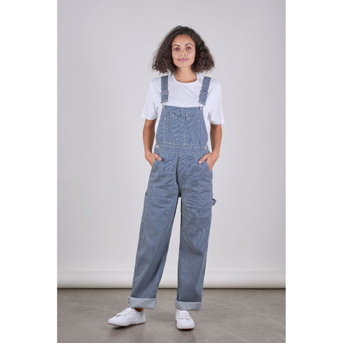 SW7 Unisex Dungarees, Hickory Striped Denim