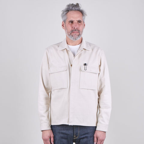 EC2 Men's Utility Shirt, 12oz Undyed Japanese Twill