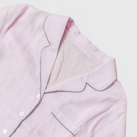 Blush Pink Linen Night Shirt - BuyMeOnce Direct - BuyMeOnce UK