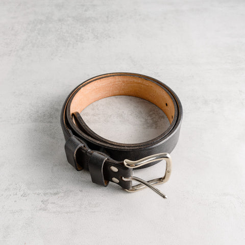 Black Oak Bark Leather Belt
