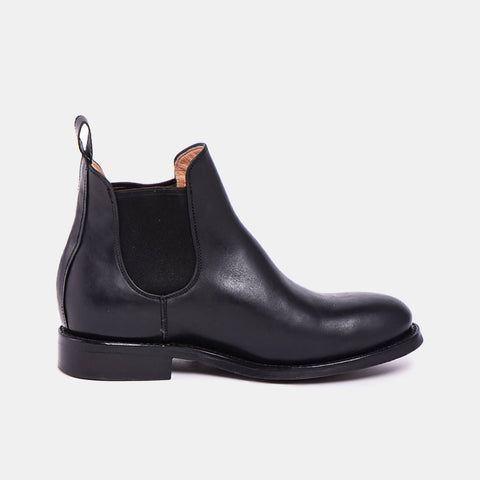 Denise Women's Chelsea Boot with Tyre Sole, Black