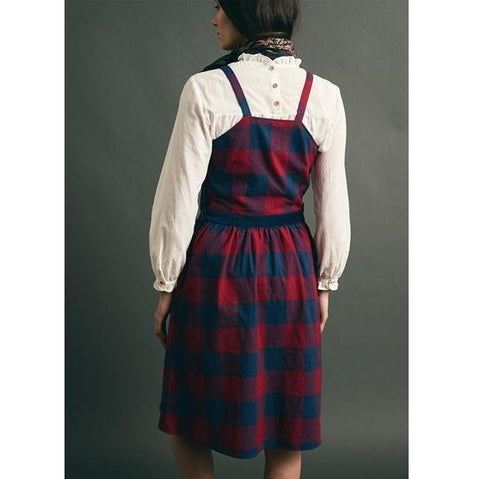 Buffalo Check Pinafore Dress