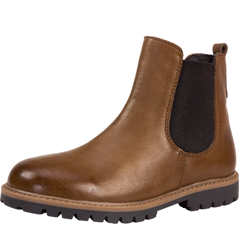 Brown Leather Kids' Chelsea Boots