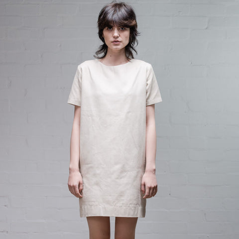 Organic Denim Dress, Old White