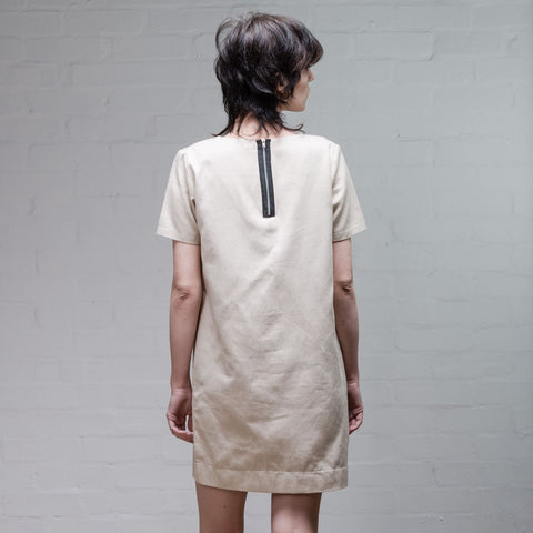 Organic Denim Dress, Old White - BuyMeOnce Direct - BuyMeOnce UK