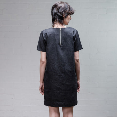 Organic Denim Dress, Black - BuyMeOnce Direct - BuyMeOnce UK