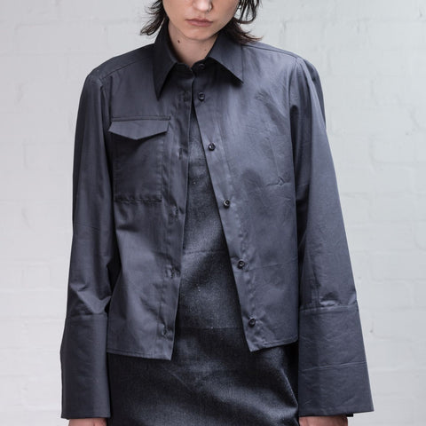 Organic Cotton Split Sleeve Shirt, Black - BuyMeOnce Direct - BuyMeOnce UK