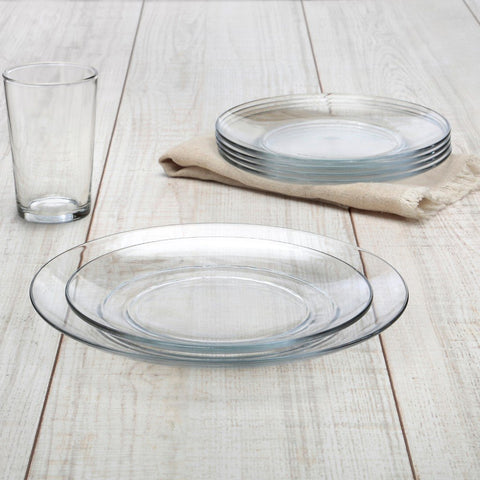 Lys Clear Glass Dinner Set, 18 Piece