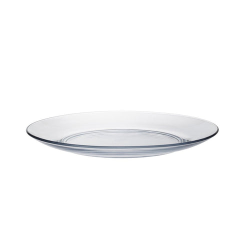 Lys DX Clear Glass Dessert Plate, Set of 6