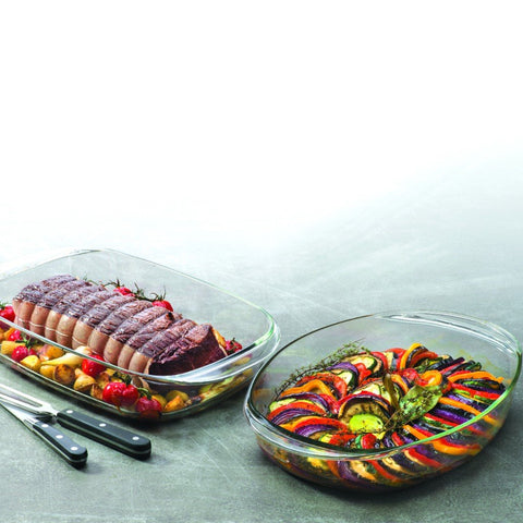 Duralex Ovenchef Oval Clear Glass Roaster, 36 x 25 x 6.5cm, 3.1 | BuyMeOnce UK