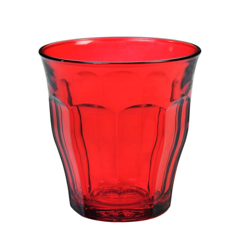 Picardie Coloured Glass Tumblers, 250ml, Mixed Set of 6 Colours - BuyMeOnce Direct - BuyMeOnce UK