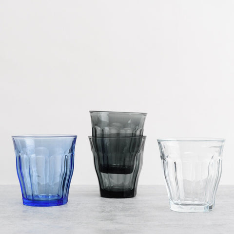 Picardie Glass Tumbler, Grey, Pack of 6 - BuyMeOnce Direct - BuyMeOnce UK