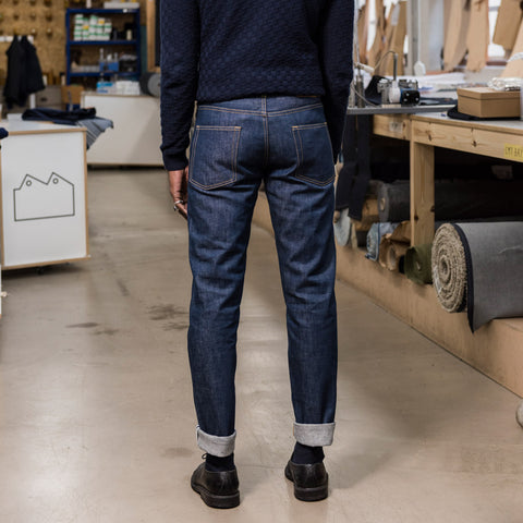 Blackhorse Lane Ateliers UK-Made Lifetime Men's E5 Relaxed Jeans, Indigo Organic Denim | BuyMeOnce