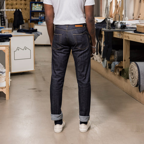 Blackhorse Lane Ateliers UK-Made Lifetime Men's E8 Super Slim Jeans, 14oz Japanese Selvedge | BuyMeOnce