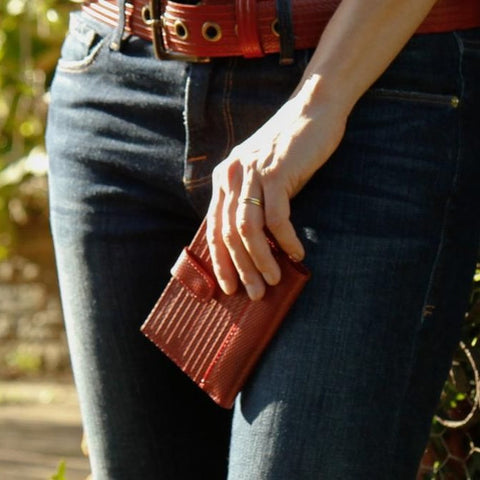 Reclaimed Fire Hose Folding Purse - BuyMeOnce Direct - BuyMeOnce UK