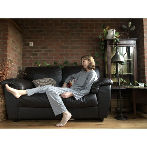 Women's Long Sleeve Pyjama Set, Grey