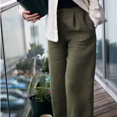 Linen Pleated Tailored Trousers - BuyMeOnce Direct - BuyMeOnce UK