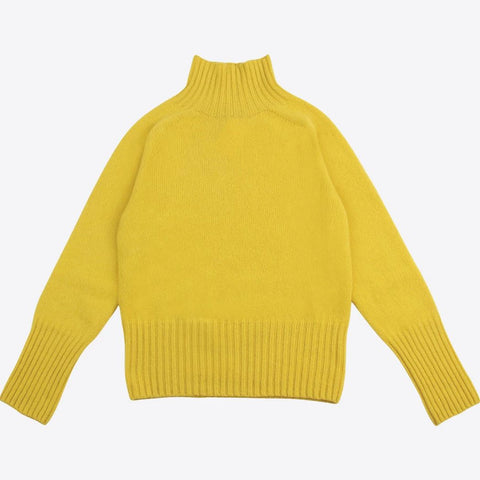 Lambswool Ski Neck, Yellow