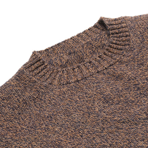 Lambswool Chunky Knit Crew Neck Jumper, Driftwood