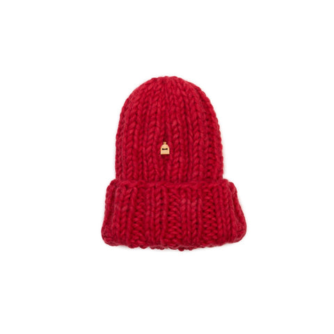 Kids' Muffi Woolly Hat, Red