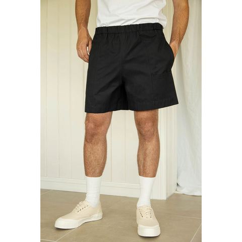 Organic Cotton Pocket Shorts, Navy