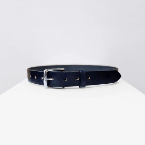 Bridle Leather Belt, Navy - BuyMeOnce Direct - BuyMeOnce UK