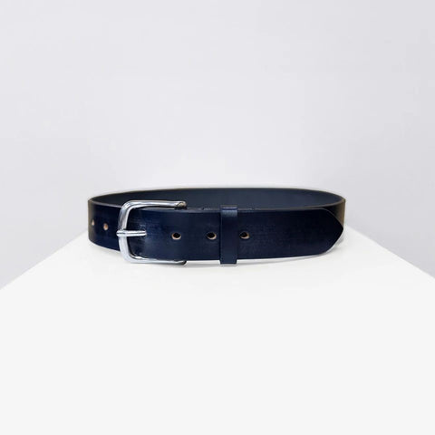 Bridle Leather Belt, Navy