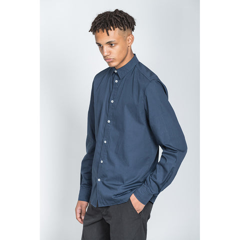 Navy Cotton Long Sleeve Shirt -  - BuyMeOnce UK