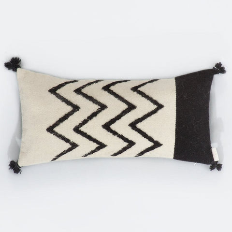 Black and White Cushion Cover, Onde