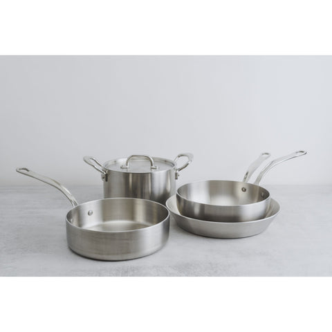 Classic Stainless Steel Tri-Ply Fluted Saute Pan -  - BuyMeOnce UK