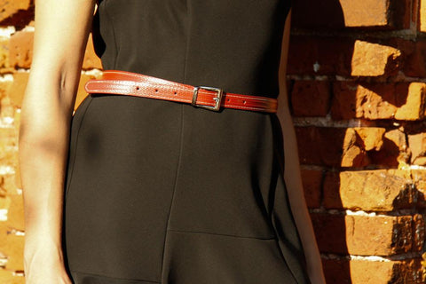 Reclaimed Fire Hose Skinny Stitch Belt - BuyMeOnce Direct - BuyMeOnce UK
